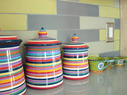 colored kitchen canisters colorful kitchen canisters decorative vintage 1500x693 13