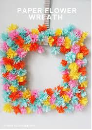 paper flower wreath homemade ginger