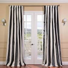 decorating black and white horizontal striped curtains for