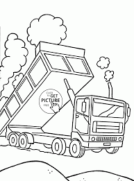 dumper truck coloring page for kids transportation coloring pages