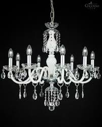 Crystal Chandelier 104 8 Ch Chrome White Crystal Chandelier With Swrovski Spectra