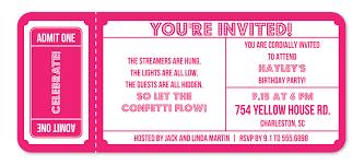 ticket birthday invitations cloveranddot com