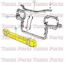 radiator for 2004 jeep grand oem mopar radiator support underbody crossmember jeep grand