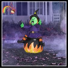 lighted halloween inflatable airblown pumpkin witch halloween