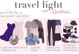 packing light for europe travel light what to pack for europe vacation packing lists