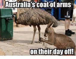 Australia Meme - australia s coat of arms on their day off meme on me me