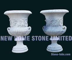 Cheap Tall Planters by White Marble Large Outdoor Flower Pots Stone Carving Tall Garden