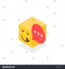 toast emoji isometric gourmet icon like emoji face stock vector 651111856