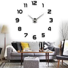 Modern Wall Clock Modern Diy Large Wall Clock 3d Mirror Surface Sticker Home Office