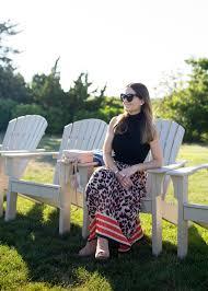 Skirted Vanity Chair Leopard Midi Skirt
