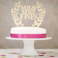how to your cake topper personalised butterfly wreath wedding cake topper by