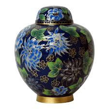 creamation urns colors of the forest cloisonne cremation urn safe passage urns