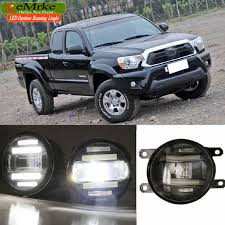 toyota tacoma fog lights eemrke xenon white high power 2in1 led drl projector fog l with