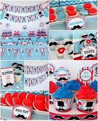 Little Man 1st Birthday Decorations Mustache Baby Shower Party Supplies Baby Shower Diy