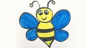how to draw and color a bumble bee for kids youtube