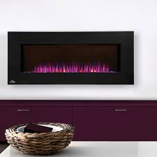 napoleon azure 42 inch linear wall mount electric fireplace