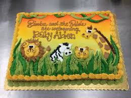 jungle theme baby shower sheet cakes zone romande decoration