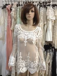 see thru blouse pics sheer cutout embroidered lace sleeve shirt see through