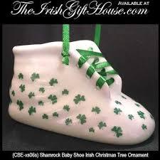 ornament shamrock baby shoe
