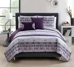 King Quilt Bedding Sets Shop Plum Adelaide 5 Quilt Set King Size Softest Comforter