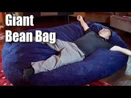 Xxl Bean Bag Chair Big Joe 7 Foot Xxl Fuf Giant Bean Bag Chair In Blue Comfort Suede