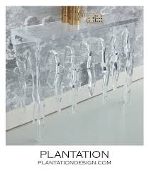 Lucite Console Table Frost Lucite Console Table Plantation