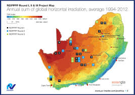 Map South Africa Image Result For Map Showing The Distribution Of Solar Energy In