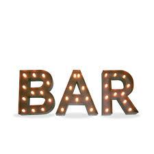 lettre decorative pour chambre b illumination metallique decorative lettres bar décoration