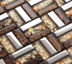 Gold Items Crystal Glass Mosaic Tile Wall Backsplashes by Tile Wall Covering Promotion Shop For Promotional Tile Wall