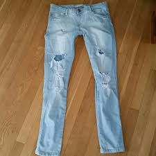 Skinny Jeans With Holes Bershka Bershka Destroyed Skinny Jeans Holes Stretch 8 From
