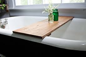 Tray For Bathtub Red Oak Wood Bathtub Tray U2013 Honey Caddy Wooden Clawfoot Standard