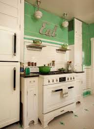 Art Deco Flooring Ideas by Kitchen In Mint Condition Arts U0026 Crafts Mint And Conditioning