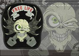 biker patch free skull