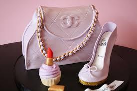 cake purse 3d birthday cakes nj chanel purse and louboutin high heel shoe