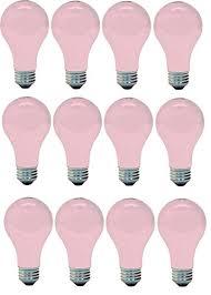ge lighting 97483 ge light bulb 60w soft pink 4 bulbs
