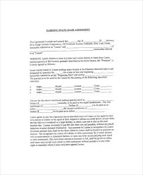 parking lease template 5 free pdf documents download free