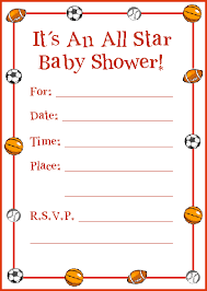 all baby shower it s an all sports baby shower invitation