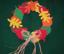 Thanksgiving Wreath Craft Craft Ideas Leaf Wreath Fall Decoration From Craft Foam
