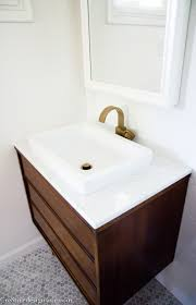 Mid Century Modern Bathroom Modern Bathroom Vanity Mid Century With Marble Top Direct Divide