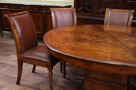 Solid Walnut Dining Table And Chairs Solid Walnut Round Dining Table With Self Storing Leaves