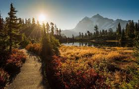 Washington mountains images Picture lake mount shuksan cascade range washington mount shuksan jpg