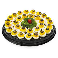 white deviled egg plate meijer deviled egg tray serves 15 20 meijer