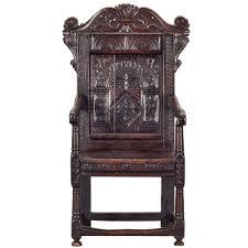 Oak Armchair Antique English Renaissance Carved Oak Armchair