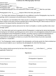 download event photography contract template for free tidyform