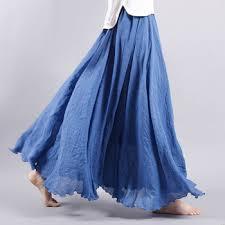 rok panjang muslim z m panjang rok untuk wanita muslim polos linen rok wanita