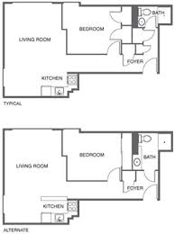 Typical Floor Plans Of Apartments 1000 Chestnut Street Apartments 1000 Chestnut Street San