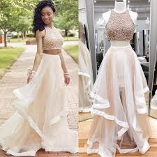 pretty dresses modest two pieces prom dresses for sparkly prom dresses