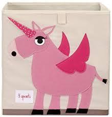 amazon com 3 sprouts storage box unicorn nursery storage