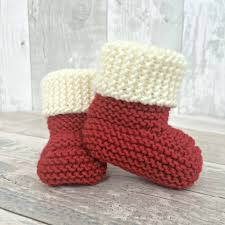 baby booties baby announcement knitted