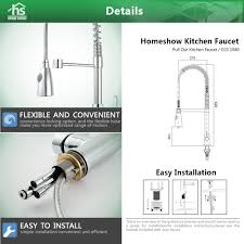 homeshow single lever pull down kitchen faucet chrome c03 1080
